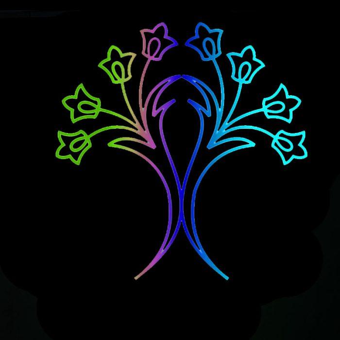 المان نوری مدل زنبق